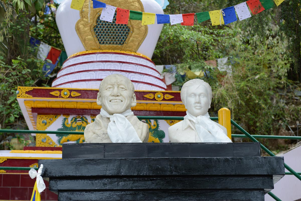 Busts of Thupten Ngodup and Jamphel Yeshi